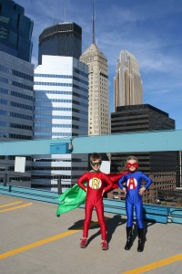 Super Heroes in downtown Minneapolis