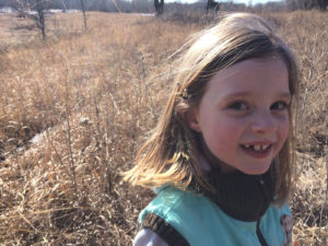 Anneke and the Big Bluestem Grass, March 2015